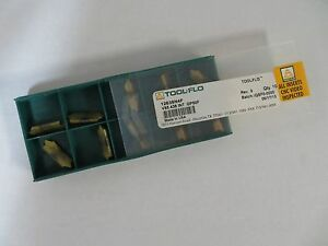 10 New Tool flo V85 438 Int Gp50f Carbide Inserts 12638n4f Toolflo