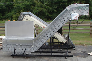 Dyna con Vertical Z Conveyor System 18v260830 Fixed Speed Used Tested Runs Good
