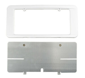 C6 Corvette Custom Painted Rear License Plate Frame Arctic White 10u Wa9567