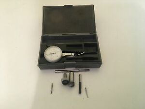 Mitutoyo 513 202 Dial Test Indicator 0005 Set With Extra Tips And Case