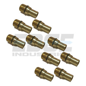 10 Pack 3 4 Swivel Hose Barb X 3 4 Male Npt Brass Pipe Fitting Gas Fuel Water