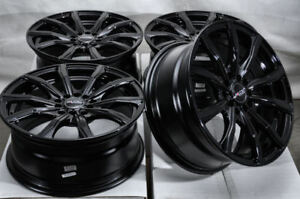 16x7 Black Wheels Fits Toyota Camry Celica Matrix Is200 Civic Accord Lancer Rims