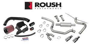 2013 2017 Ford Focus St Roush Cat Back Exhaust Cold Air Engine Intake Kit