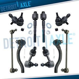 12pc Front Inner Outer Tie Rods Sway Bars Kit For 2013 2015 Honda Civic Ilx