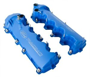 2005 2010 Mustang Gt 4 6 3v Ford Racing Etched Blue Cam Valve Covers Pair
