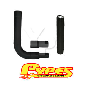 Black Slant Cut Stack Exhaust Chevy 2500 3500 Hd Diesel 6 Stainless Pypes Kit