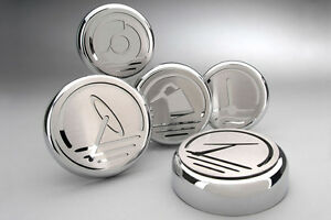 2005 2009 Mustang Automatic Trans Chrome Executive Series Fluid Cap Covers 5 Pc