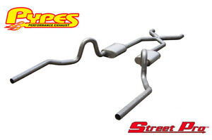 1964 1977 Chevelle Pypes 3 Stainless Exhaust System Street Pro Mufflers X pipe