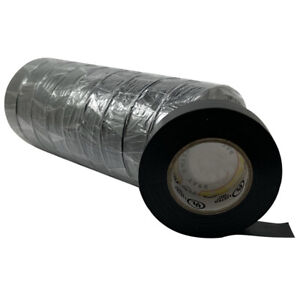 Black Electrical Insulating Tape 3 4 X 60 Ft 10 Roll Sleeve