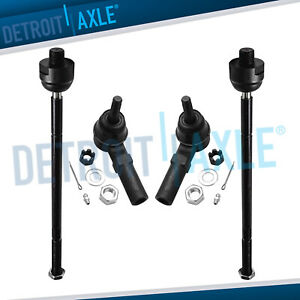 4pc Front Driver Passenger Inner Outer Tie Rod For Buick Cadillac Olds Pontiac
