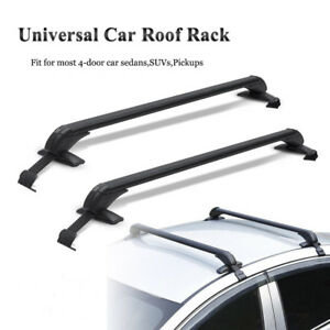 Aluminum Car Roof Top Rack Rail Cross Bar Luggage Cargo Carrier Window Frame