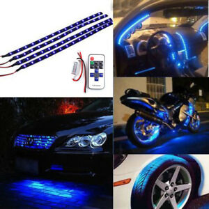 Blue Led Strip Kit Interior Lighting Romote Control For Boat Truck Car Suv Rv