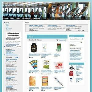 Fitness Health Supplement Online Store Business Website For Sale Free Domain