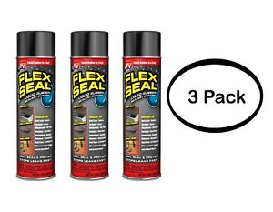 Flex Seal Spray Rubber Sealant Coating 14 oz Black 3pk