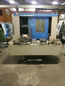 Kia H63 Cnc Horizontal Machining Center Fanuc A c Handyman Special