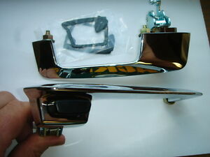 Mopar 68 69 Barracuda Charger Door Handles With Black Knob 1968 1969 New