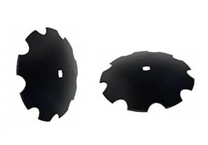 2 Of 16 Notched Disc Harrow Blade Dual punched 1 1 8 X 1 1 4 Square 3mm