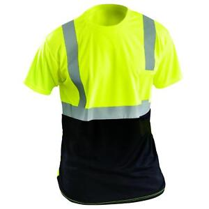 Occunomix Type R Class 2 Black Bottom Safety Shirt Yellow lime