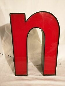 N Red 16 Led Lighted Sign Outdoor Channel Letter N Business Retail Commercial N