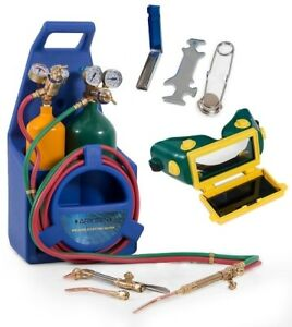 Arksen Professional Style Torch Kit Oxygen And Acetylene Oxy W Tank Blue