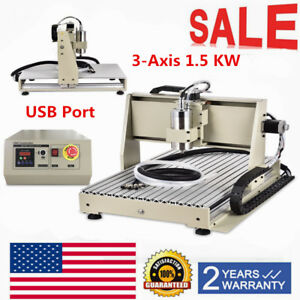 Cnc 6040 1 5kw 3axis Usb Wood Engraver Router Milling Drilling Machine Engraver