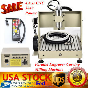 4axis Cnc 3040 Router Kit Parallel Engraver Cutting Carving Milling Machine 800w