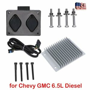 New Fuel Pump Driver Module Pmd And Relocation Kit Set For Chevy Gmc 6 5l Diesel