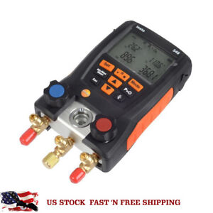 Plastic Refrigeration Testo 549 Digital Manifold Gauge 2 Valves System For Hvac