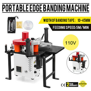 Woodworking Portable Edge Banding Machine Straight 120 180 Celsius Jbd80 Pro