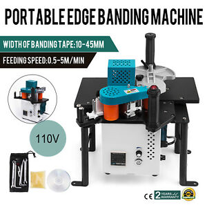 Woodworking Portable Edge Banding Machine 16 40mm Width Wood Working Bevel