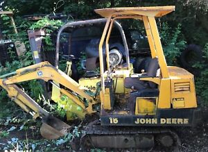 John Deere 15 Mini Hydraulic Excavator With Yanmar Diesel Engine 1 959 Hrs