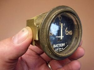 Vtg Original Stewart Warner Battery Volt Gauge No 504 a Hot Rod Rat Rod Rare