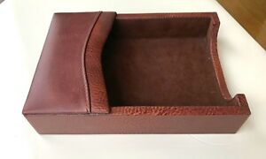 Dacasso Genuine Italian Leather 4 X 6 Memo Holder Desk Accessory