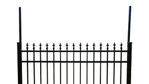Vertical Post Extensions For Black Ornamental Aluminum flat Or Surface Mount 10