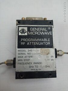 General Microwave Programmable Rf Attenuator 5 10 Ghz