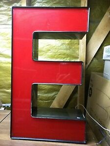 E Red 21 Led Lighted Sign Outdoor Channel Letter E Business Retail Commercial E