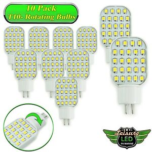 10x T10 24 Smd Led Bulb Super Bright Warm White Rv Trailer Interior 921 194