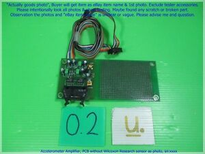 Accelerometer Amplifier Pcb Without Wilcoxon Research Sensor As Photo Sn xxxx