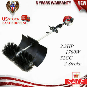 2 3hp 52cc Gas Power Hand Held Cleaning Sweeper Broom Driveway Artificial Grass