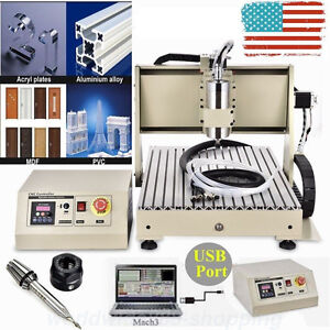 Usb Cnc Router Engraver Engraving Cutter 3 Axis 6040t Crafts Carving Ballscrew