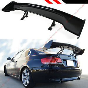 Universal 57 Abs Adjustable Glossy Black Wide Gt Style Gt Trunk Spoiler Wing