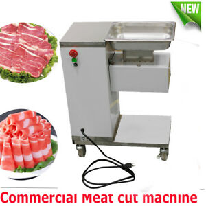 Meat Cutting Machine Meat Cutter Slicer 500kg Output w 3mm Blade Factory Canteen