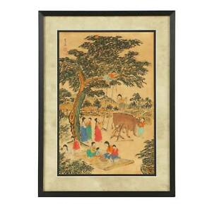 Vintage Korean Water Color Painting By Do San
