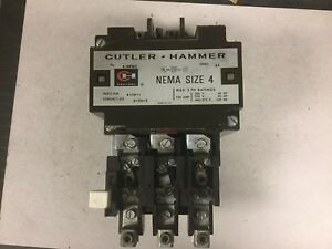 Cutler Hammer A10fno Size 4 Motor Starter With 120 Volt Coil