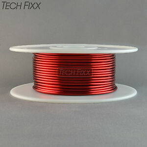 Magnet Wire 12 Gauge Awg Enameled Copper 88 Feet Coil Winding Heavy Build Red