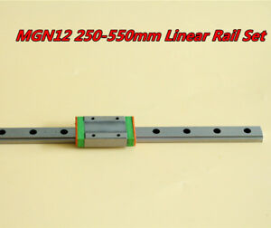 Mgn12h 250 550mm Linear Sliding Miniature Guide Block For Cnc 3d Printer