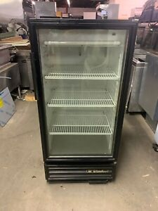 True Gdm 10 Commercial Single Glass Door Refrigerator Merchandiser Cooler Used