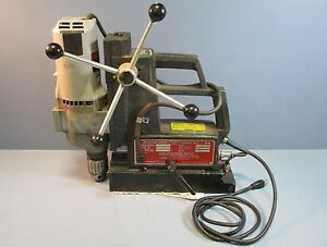 Milwaukee 4297 1 Drill W Gamag 4020vsmts Electromagnetic Base Used