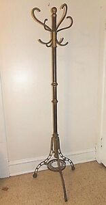 Vintage Unique Brass Coat Rack 100 Brass 6 Foot Hat Coat Stand Hall Tree