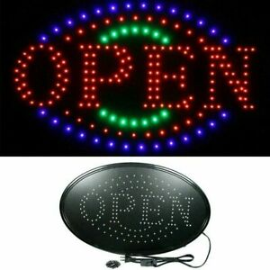 Ultra Bright Led Neon Light Animated Motion With On off Store Open Business Sign